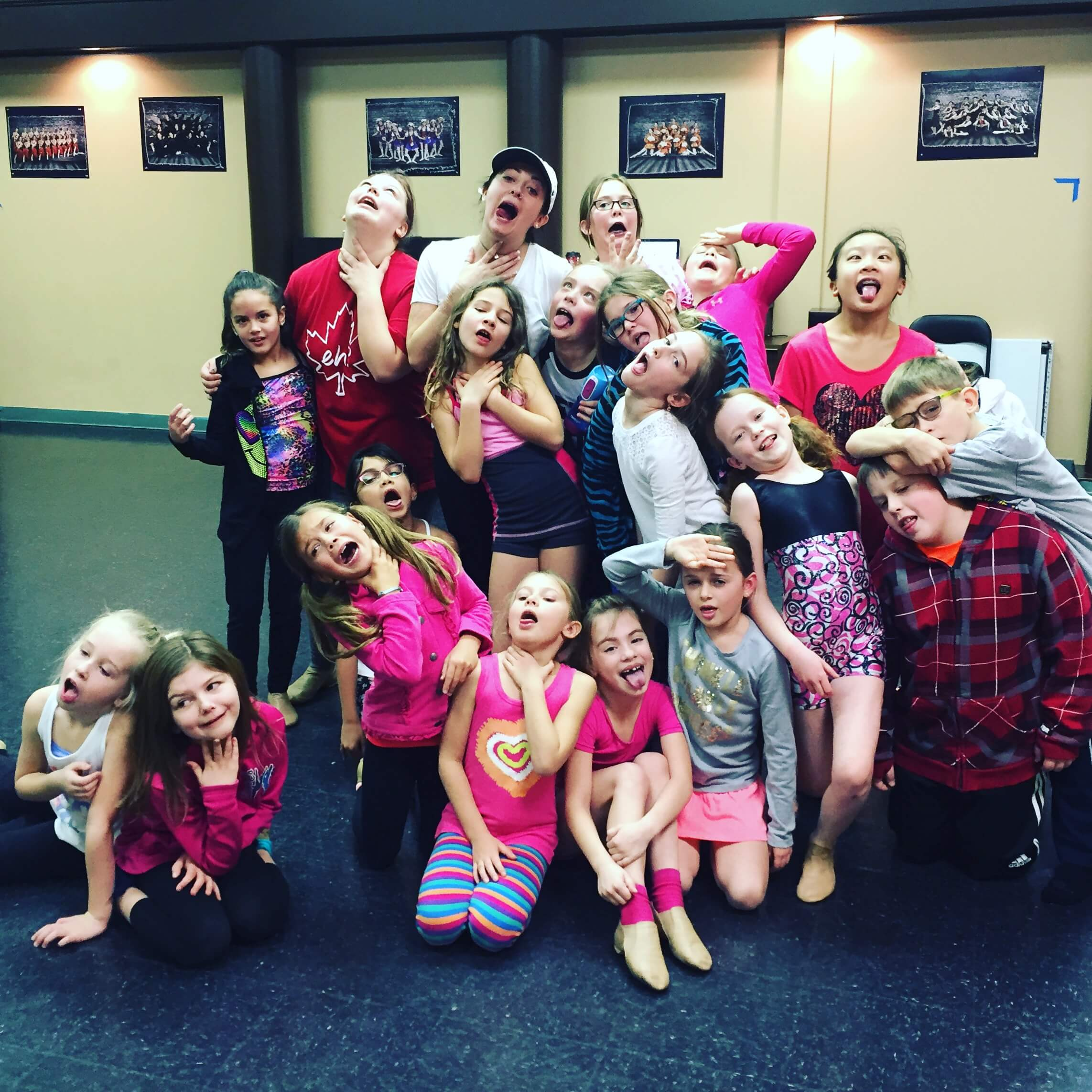 Musical Theatre gang at our St Albert studio