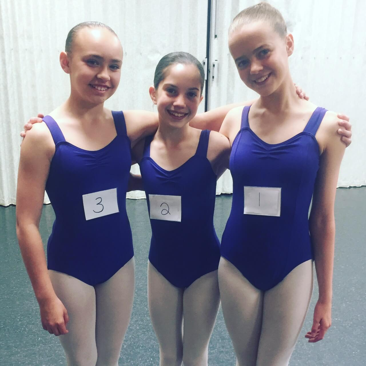 Ballet exams start today! Here are our first three girls!